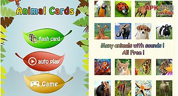 Baby learning card - animal