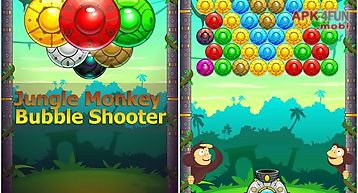 Jungle monkey bubble shooter