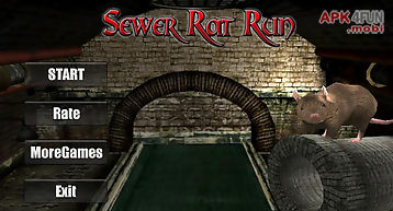 Sewer rat run! 3d