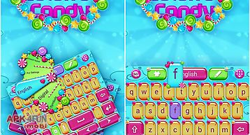 Colorful candy keyboard theme
