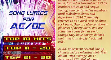 Ac dc albums songs concert