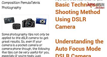 Basic technique of photographing
