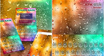 Color rain animated keyboard