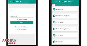 Irctc rail tickets booking