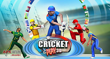 Cricket play 3d: live the game