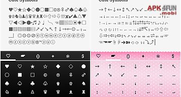 Cute symbols - emoji keyboard♤