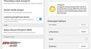 Go sms pro indonesia language