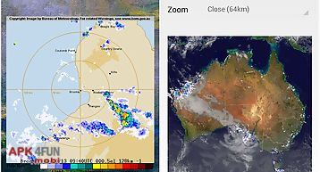 Australia weather radar widget
