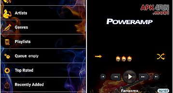 Poweramp skin flames