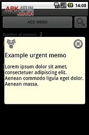 easy memo - protect your memos