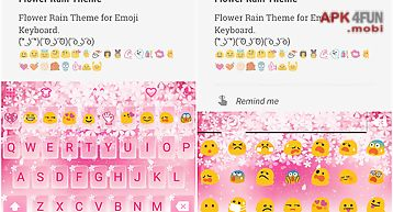 Flower rain emoji keyboard