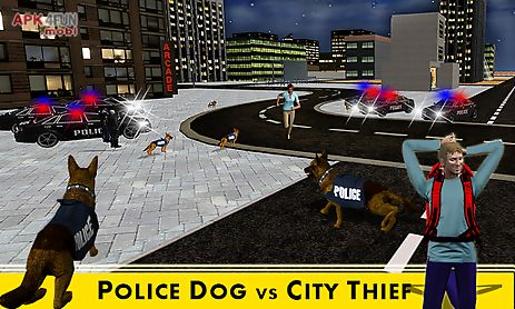 police dog crime city chase