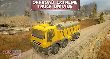 Off­road extreme truck driving