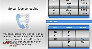 Fake call log