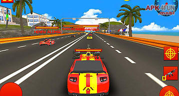 Miami beach: car death race 3d