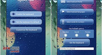 Rainy keyboard theme