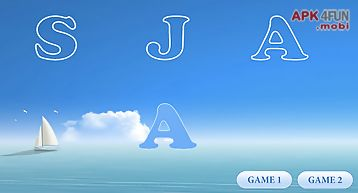 Kids games: learning letters