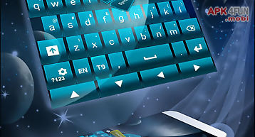Keyboard theme galaxy