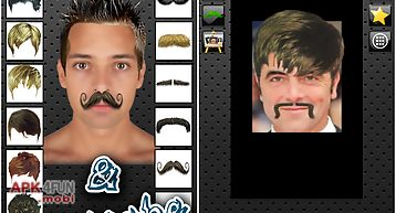 Hair changer and mustache