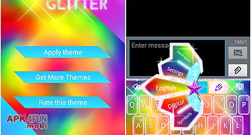 Keyboard color glitter theme