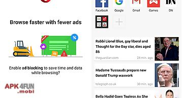 Opera mini - fast web browser