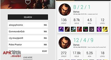 Match history for lol