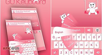 Go keyboard cute kitty theme