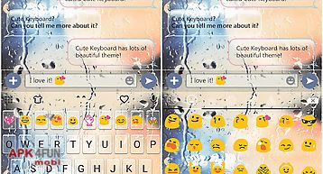 Free glass emoji keyboard skin