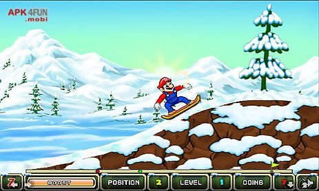 my friends mario and sonic toon skiing