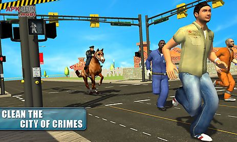 police horse crime city chase