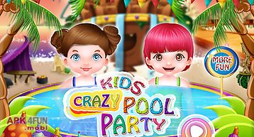 Crazy kids pool party