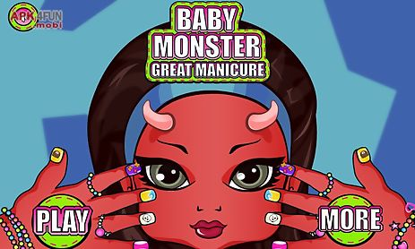 baby monster manicure