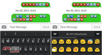 Emoji keyboard+ black theme