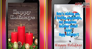 Happy holidays greetings maker