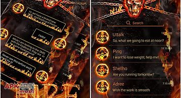 (free) go sms pro fire theme