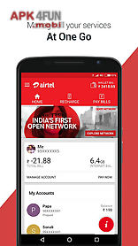 My airtel: recharge, pay bills for Android free download