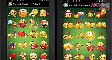 Romantic emoticons collection