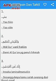 Surat Yasin Arab Latin Artinya For Android Free Download