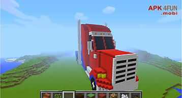 Truck of mine block craft