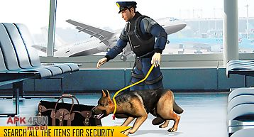 Police dog airport crime city